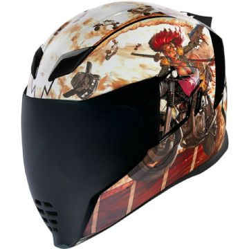 Icon Airflite Pleasuredome 3 Mad Max Style Full Face Motorcycle Motorbike Helmet